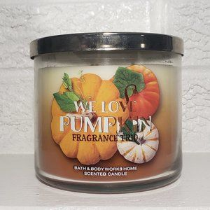Bath and Body Works We Love Pumpkin Trio Candle